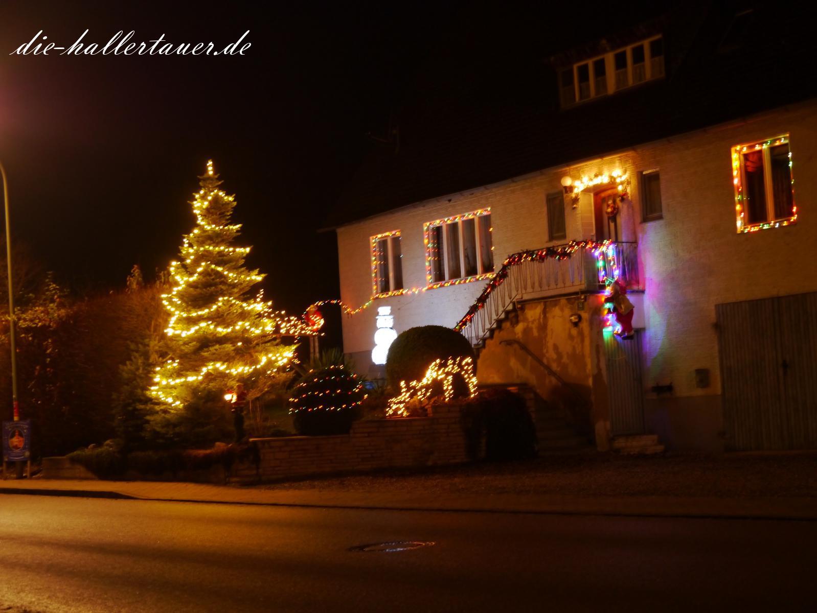 Weihnachtsbeleuchtung in Seyersdorf