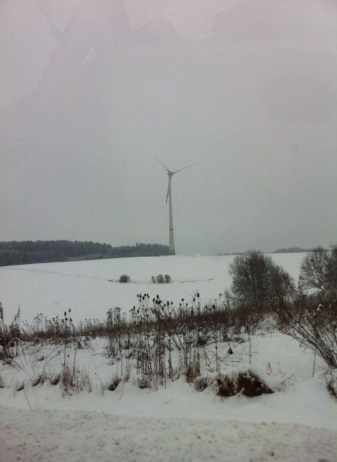 Koppenbach nach Engelmannsberg, bei den neuen Windrädern