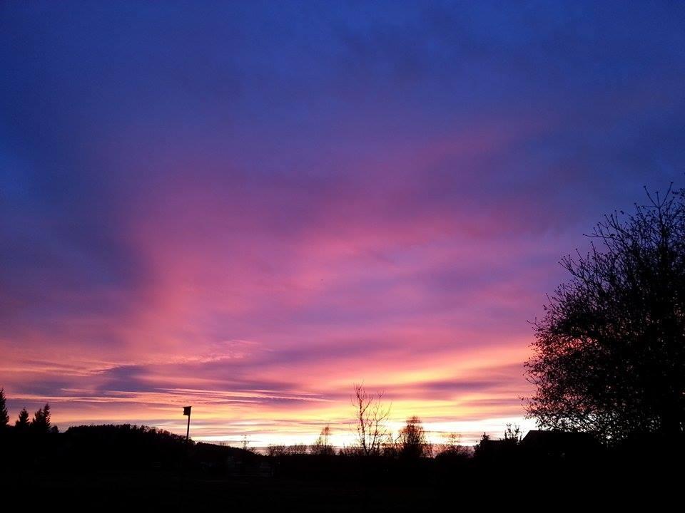 Sonnenuntergang Rudelzhausen