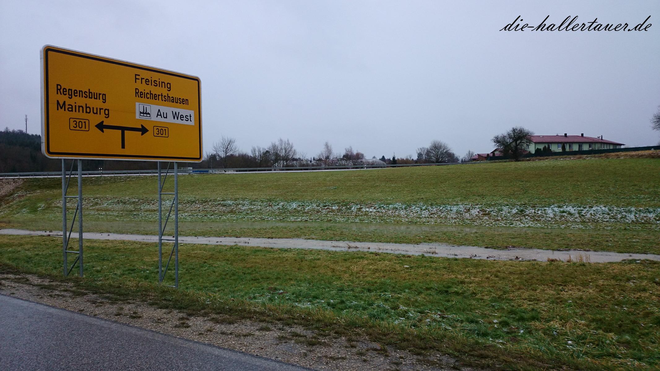 Hochwasser Au in der Hallertau