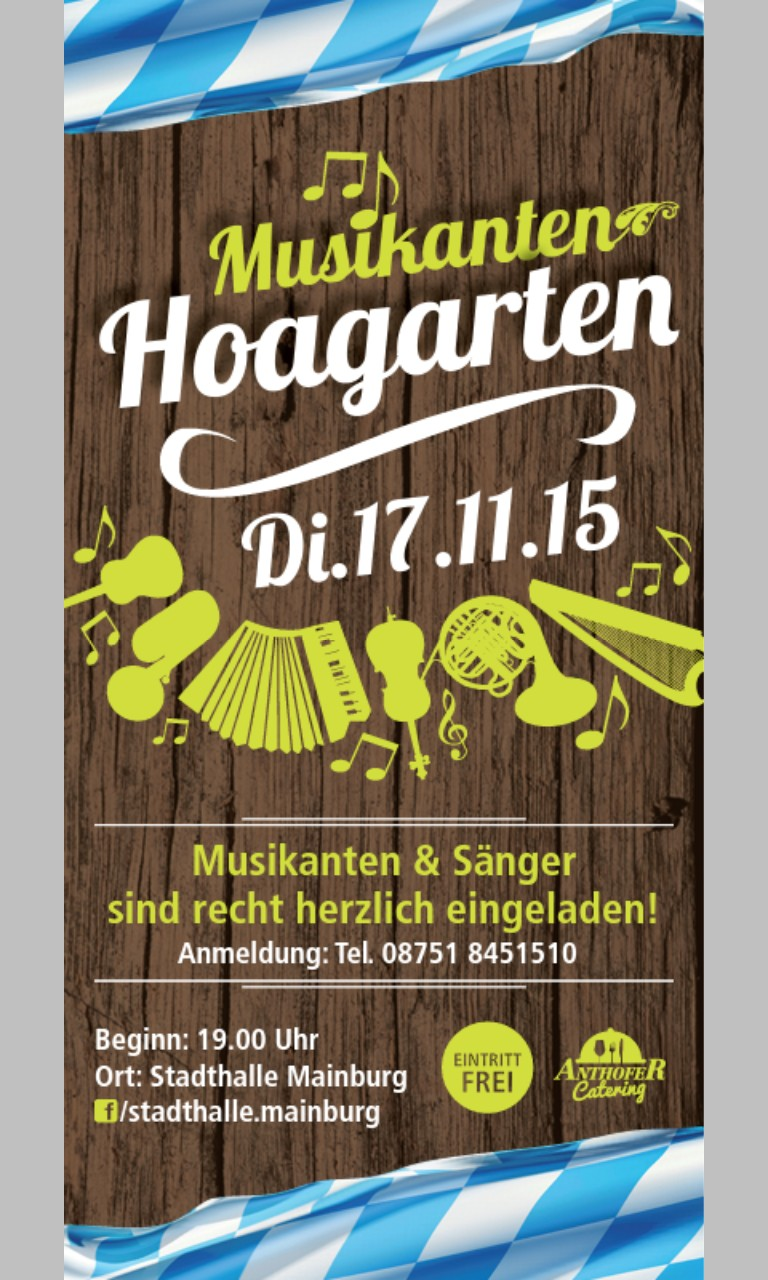 Musikanten Hoagarten in Mainburg